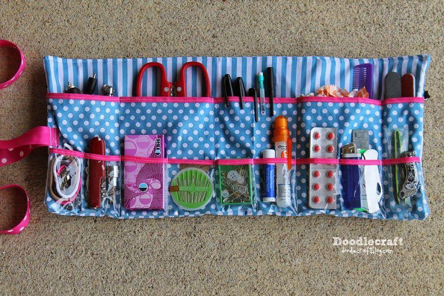 Roll Up Glove-box Essentials Caddy!