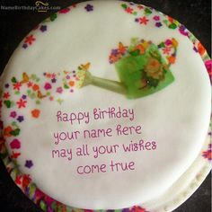 write name on Wish Birthday Cake picture Madhu Pinterest