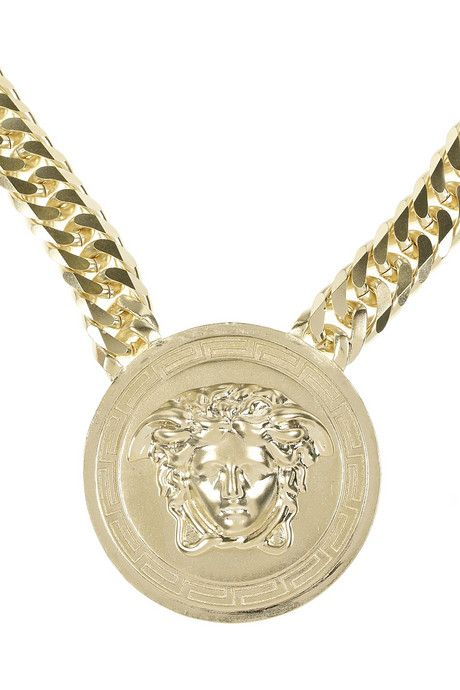 The gold versace with cuban link