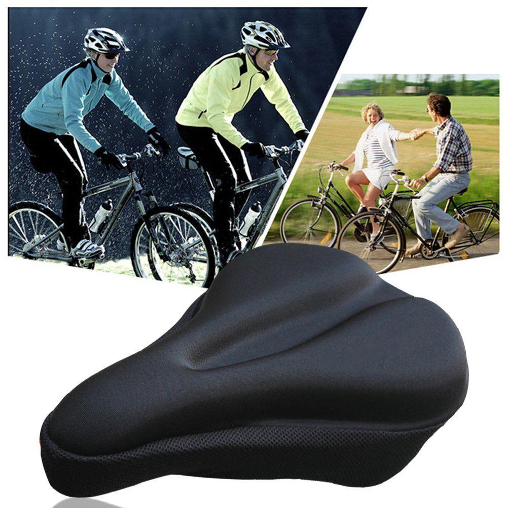 Gel Bike Seat Cushion Odowalker Comfortable Soft Padded Gel Bike Seat Cover Saddle Comfortable Bicycle Seat Cove Comfort Bicycle Bike Seat Cushion Peloton Bike