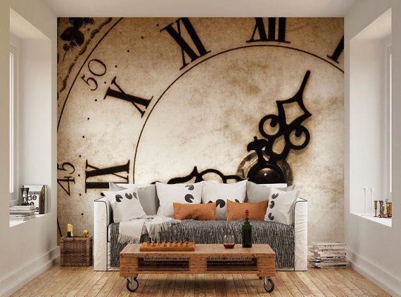 Fototapete - klassisches Ziffernblatt Erstellen Sie eine - wandbild für wohnzimmer