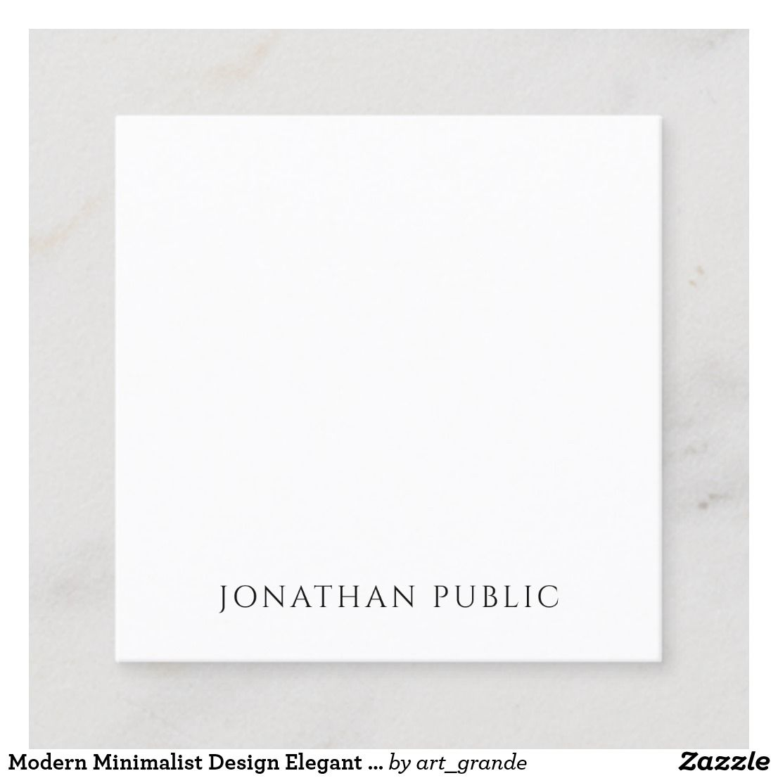 Modern Minimalist Design Elegant Template Trendy Square Business Card Zazzle Com Simple Business Cards Square Business Card Minimalist Business Cards
