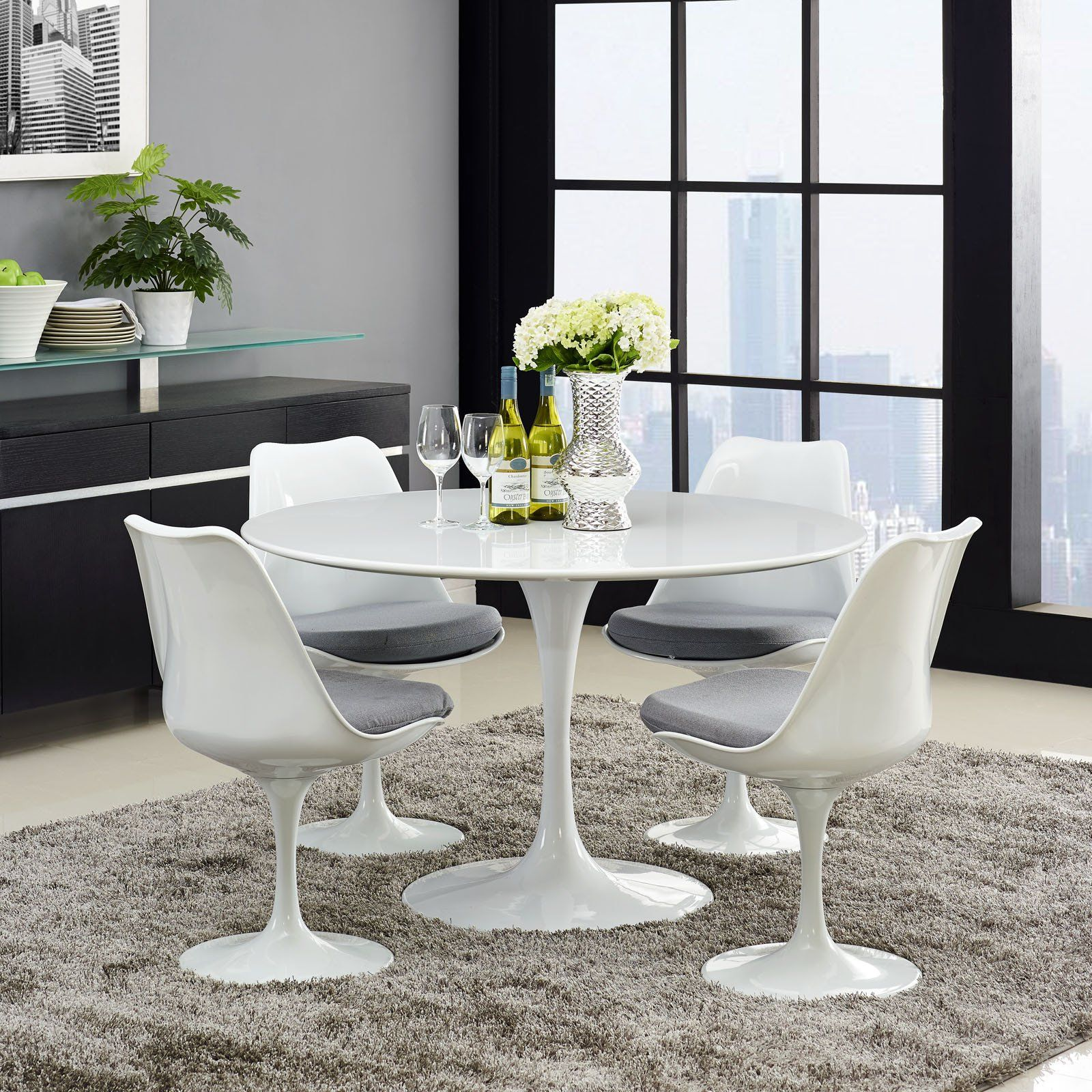 Lore Round Dining Table White Round Dining Table Dining Table