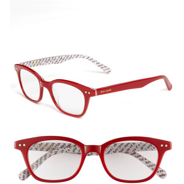 84a6548de260 kate spade new york 'rebecca' 49mm reading glasses (€64) ❤ liked on Polyvore  featuring accessories, eyewear, eyeglasses, glasses, red, acetate glasses,  ...