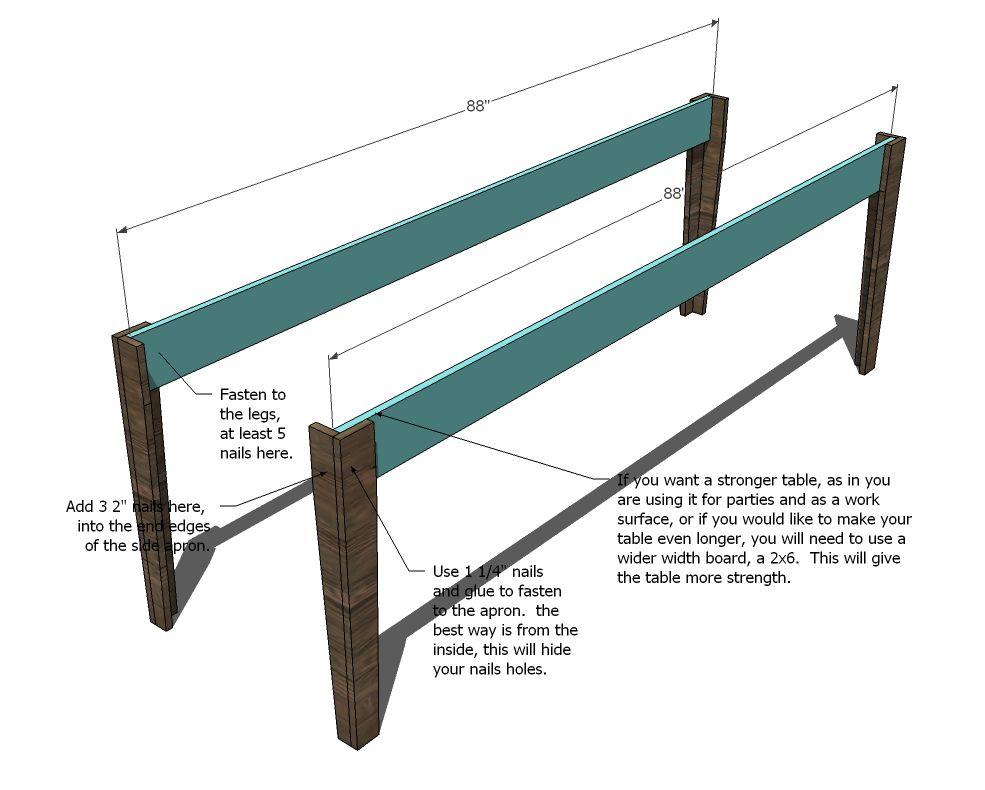 Narrow Farmhouse Table Farmhouse table, Diy farmhouse