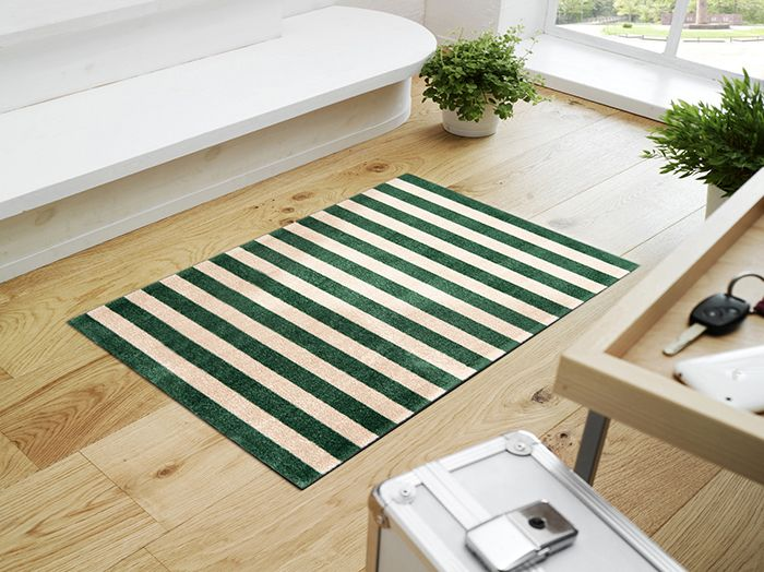 New Traditional | Parisian Market Stripe | Striped Floor Mat ... on table cover for home, designer welcome mats, speakers system for home,