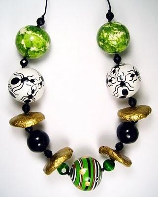 Remarkable Paper Mache Jewelry With Images Paper Jewelry Paper Bead Jewelry
