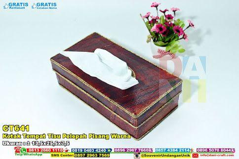 Kotak Tempat Tisu Pelepah Pisang Warna Warna Kotak Dan Pisang