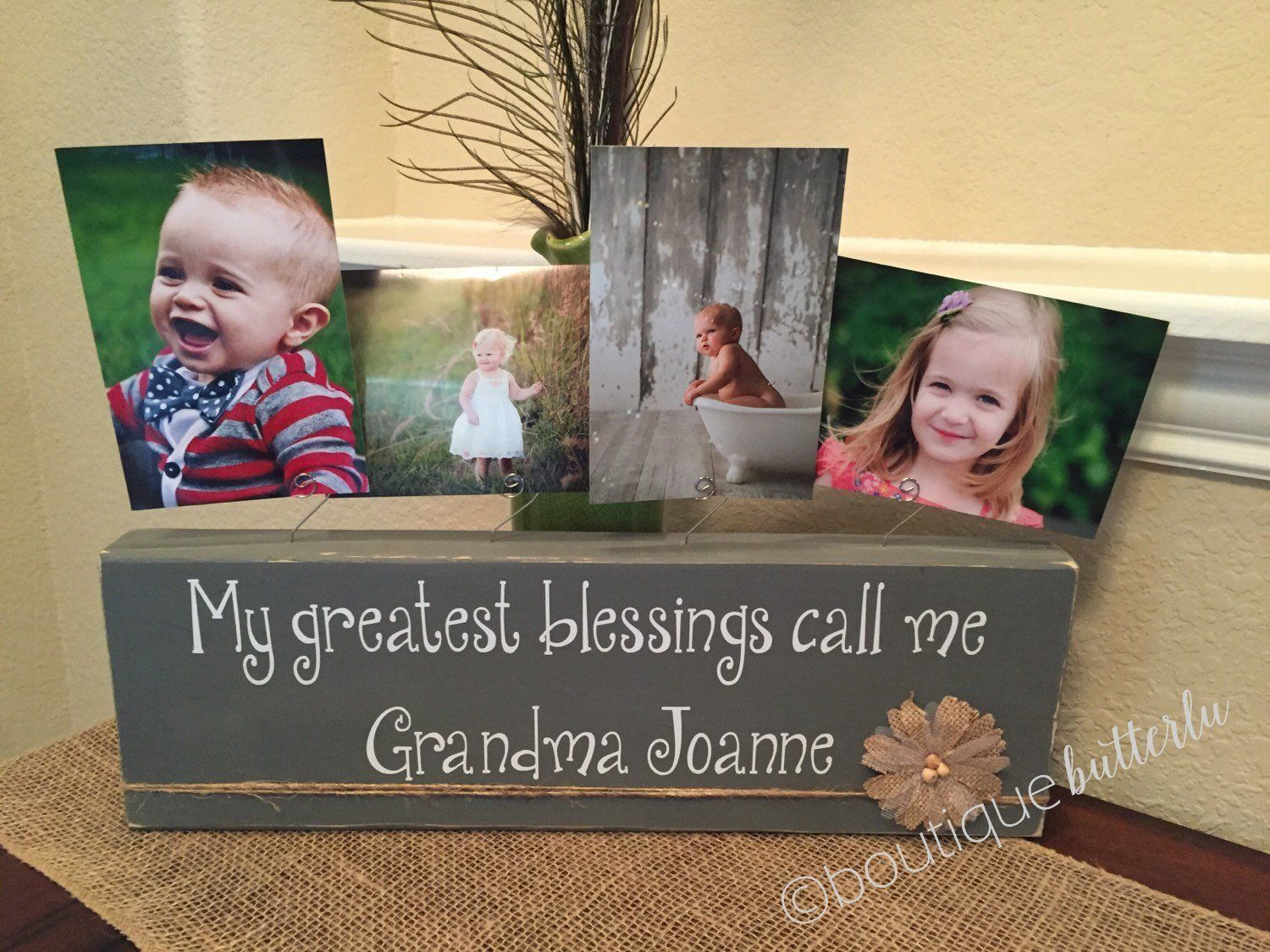 Grandma gift personalized frame nana papa aunt birthday great ...