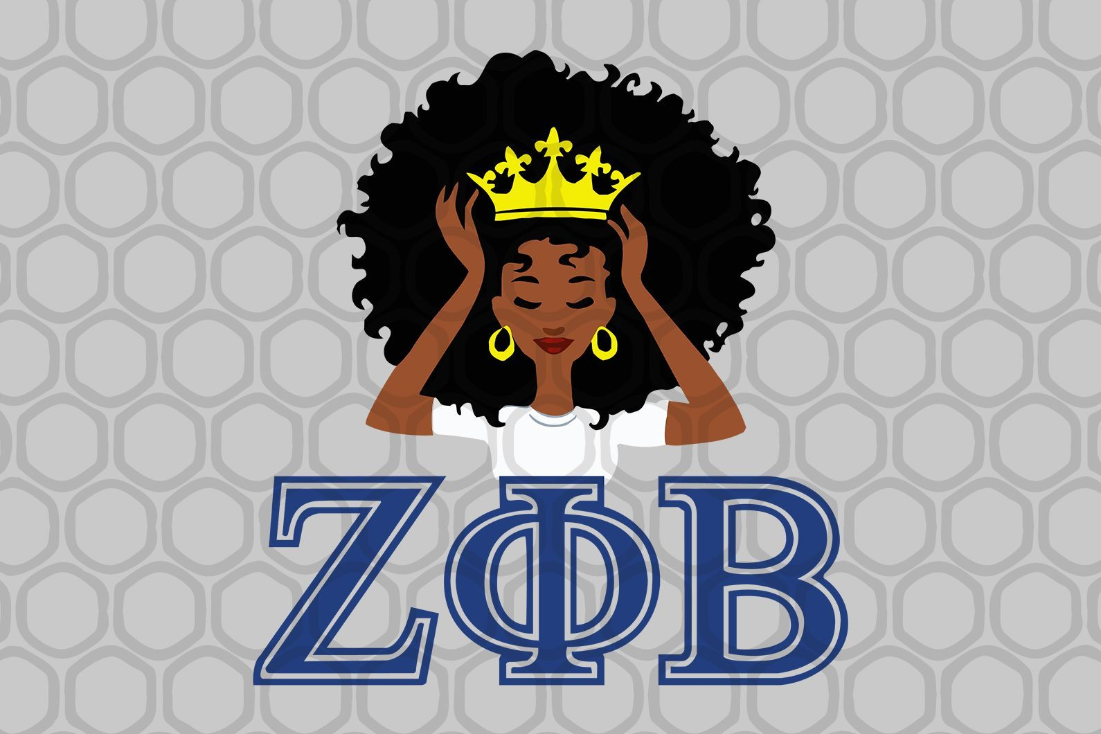 Instant Download You Will Receive 1 Zip File Includes 1 Svg File Files Colors Are Black 1 Dxf File 1 Png File Files Colors A In 2020 Zeta Phi Beta Phi Zeta