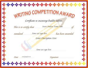 Writing competition award certificate template for ms word writing competition award certificate template for ms word download at httpcertificatesinn yadclub Images