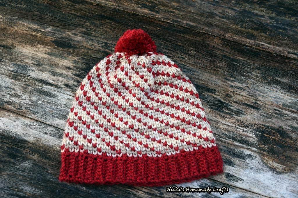 Swirly Heart Hat Pattern using the Waistcoat Stitch | Moogly ...