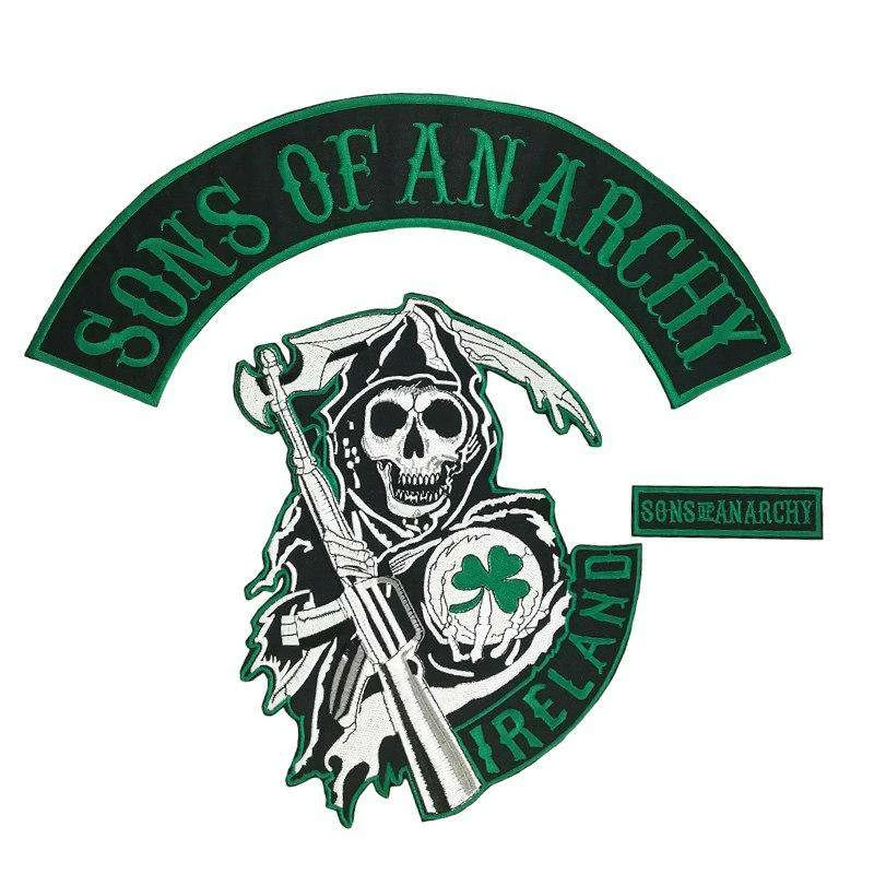 Sons Of Anarchy Patches Ireland Embroidered Biker Patches Biker Patches Sons Anarchy