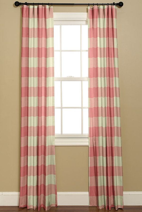Buffalo Check Curtains Nursery Decor Large Check Strawberry 2 Curtain Panels 50x84 Girls Be Kitchen Design Decor Copper Kitchen Decor Quirky Kitchen Decor