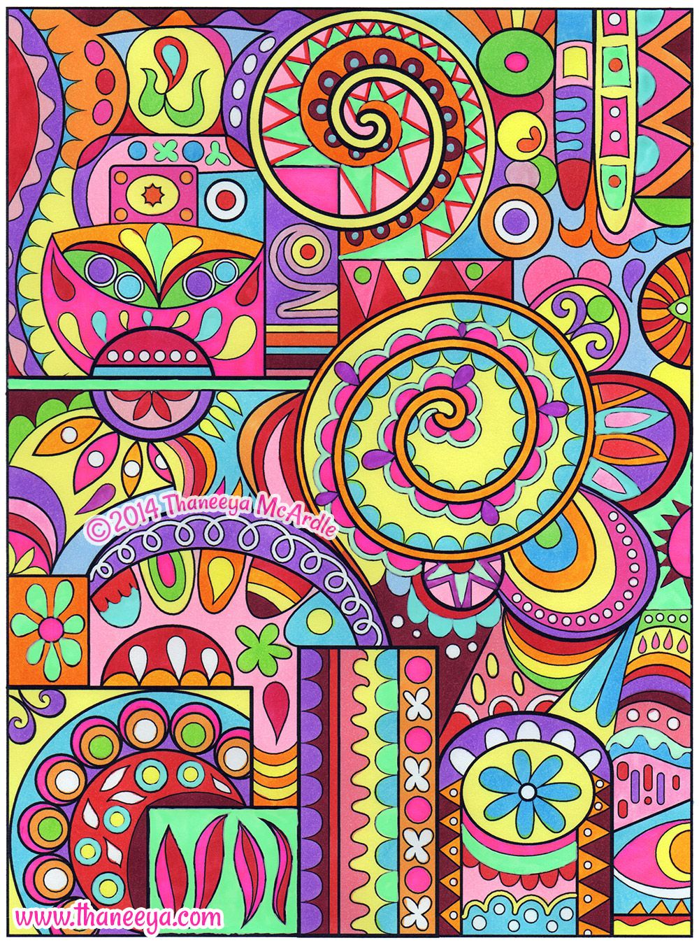 Cute Abstract Coloring Books