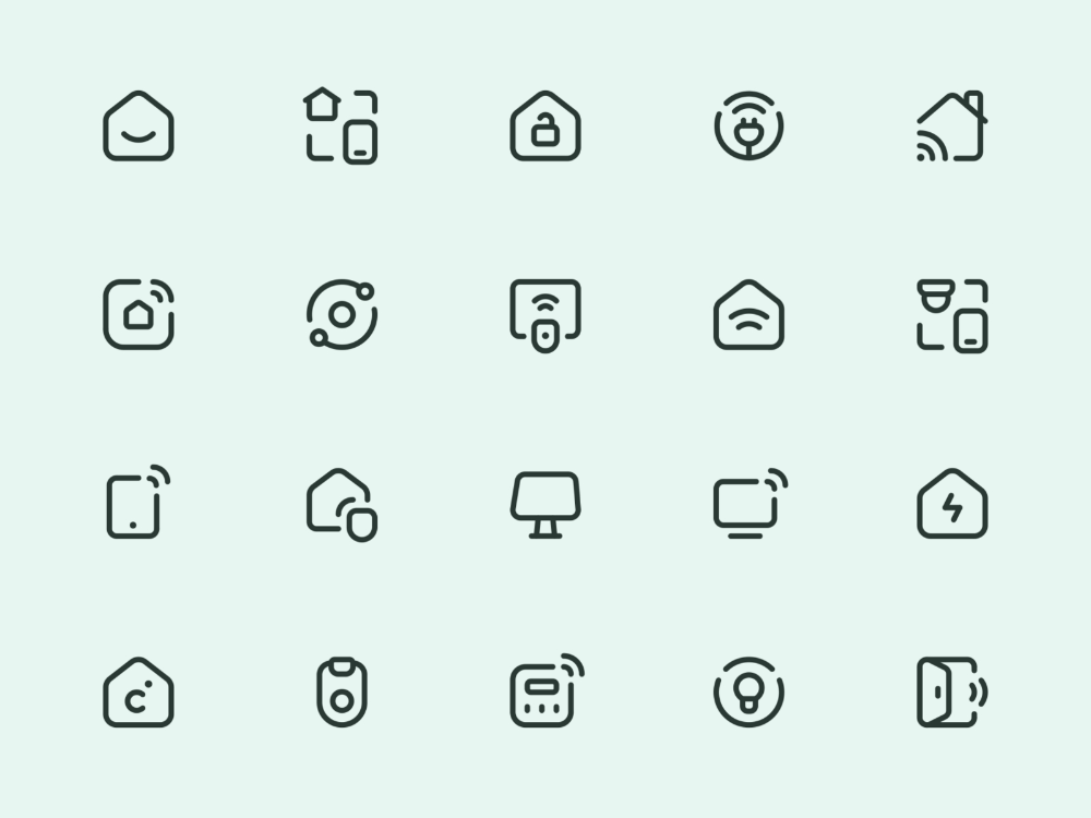 Myicons — Smart home vector line icons 2020(이미지 포함) 디자인