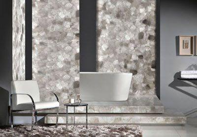 White Quartz Flooring and Room Dividers