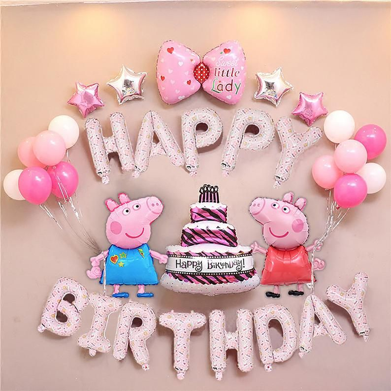 Peppa Pig Balloon Style Trending Birthday