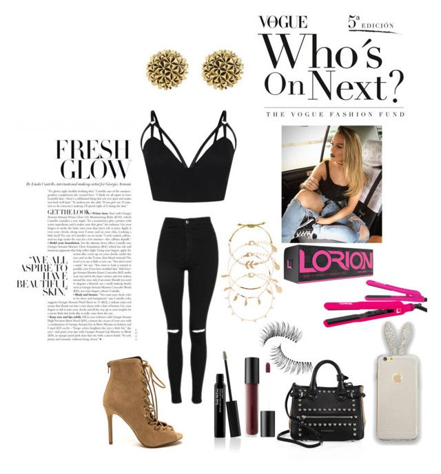"""""""Sin título #292"""" by michelle123a on Polyvore featuring moda, Topshop, Trish McEvoy, Bare Escentuals, Burberry, Accessorize, Brilliance New York y House of Harlow 1960"""
