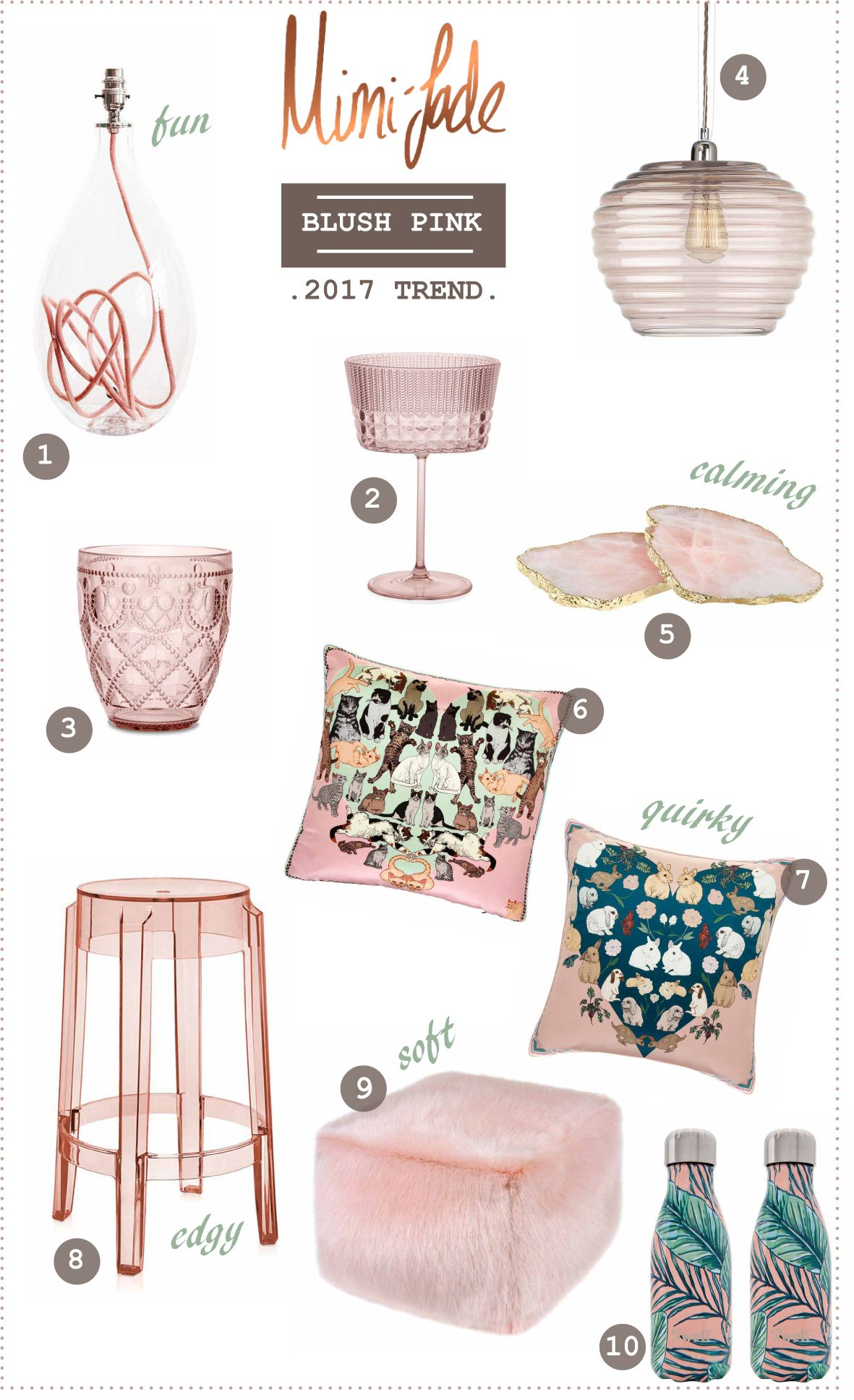 Dusky And Chalky Pink Trend For 2017 Blush Is Everywhere Home Accessories Find Out Why Everybody Falling In Love With This Pastel Shade