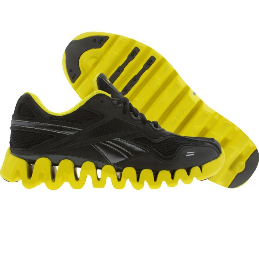 reebok zigtech black and yellow
