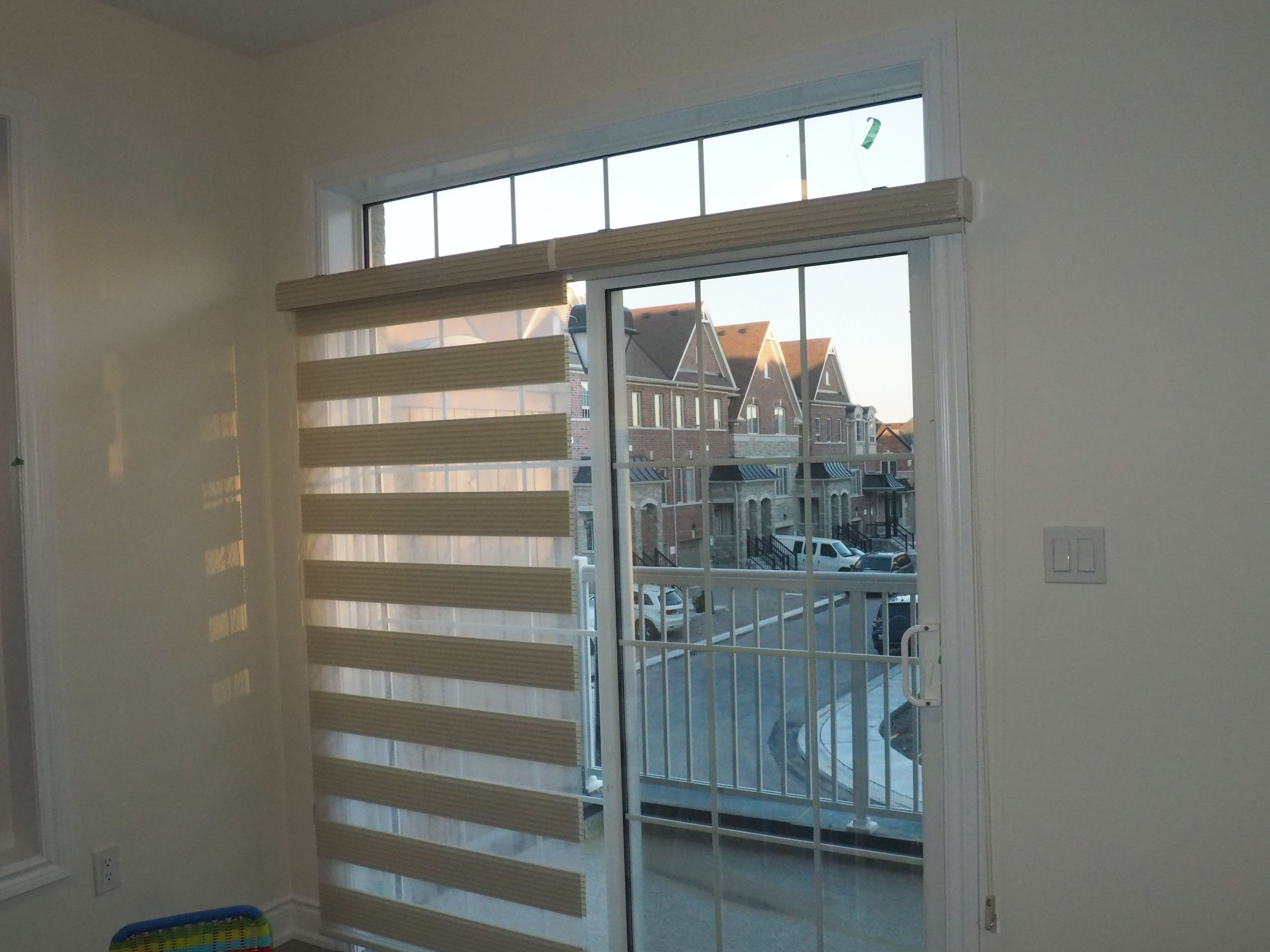 Twin Metal Combi Blinds Can Be Use Side By Side For Patio Sliding