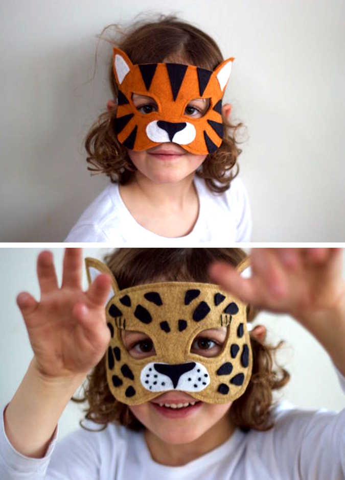 Wild Things - Lion, Leopard, Tiger, Giraffe, Zebra Masks / Costumes ...