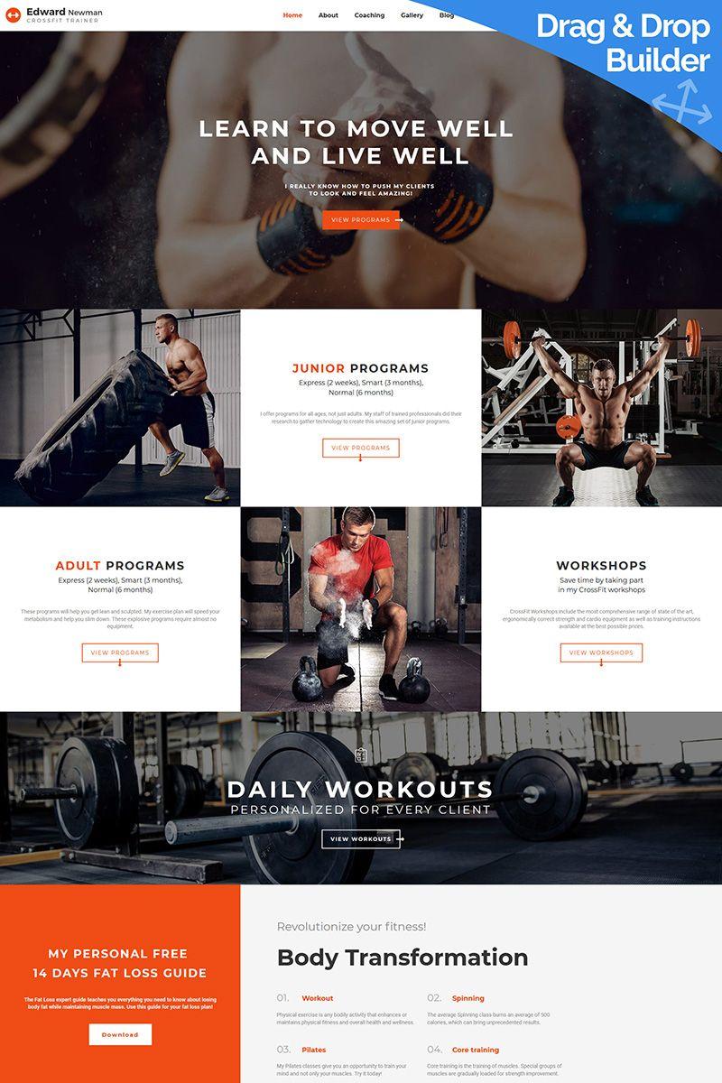 Edward Newman Crossfit Trainer Moto Cms 3 Template 66547 Personal Trainer Website Crossfit Trainer Sports Website