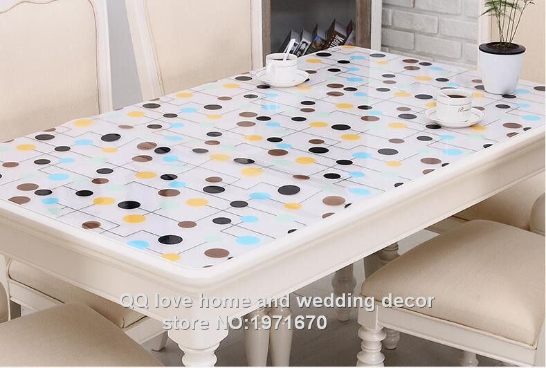 1 0mm Thick Soft Glass Plastic Table Cloth Print Tablecloth