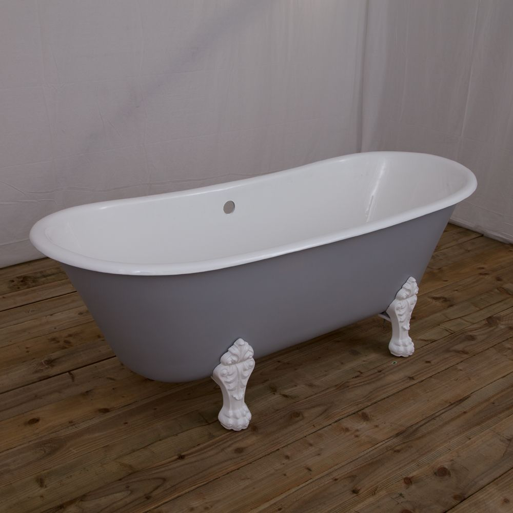 Hurlingham Double Slipper Cast Iron Bath,Hurlingham,Roll Top Baths ...