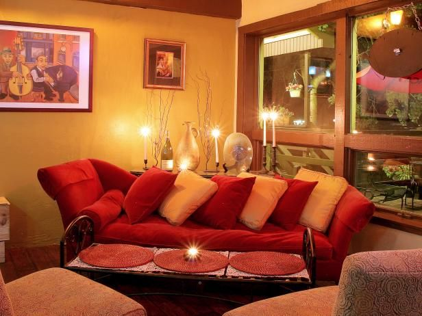 Yellow Eclectic Living Room With Red Sofa Living Room Red Eclectic Living Room Living Room Paint