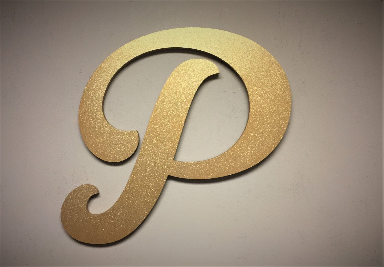 Wall Mounted Letter P Gold Sparkle Golden Letter Decor Large Letter Decor Home Wall Decor Nursery R Decorative Letters Letters And Numbers Home Wall Decor