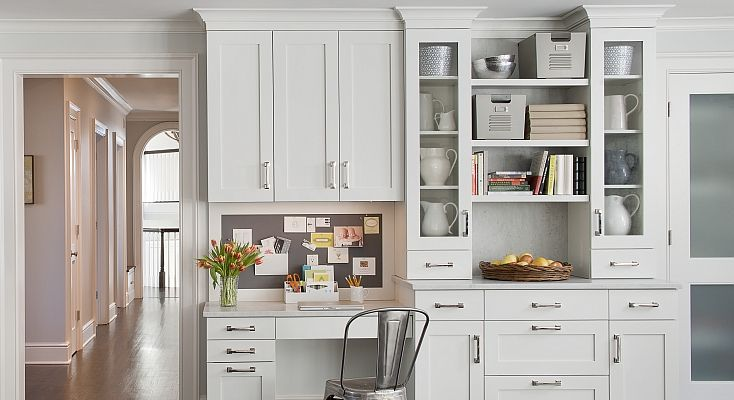 Built In Desk Contemporary Kitchen Kitchens By Deane Kitchen Desk Areas Kitchen Desks Kitchen Remodel