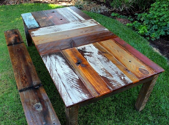 Diy Rustic Dining Tables Ve Been Pondering Undertaking A Project To Create Computer Table Reclaimed Bench Wood