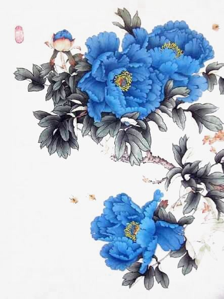 Ink Blue Peony #bluepeonies