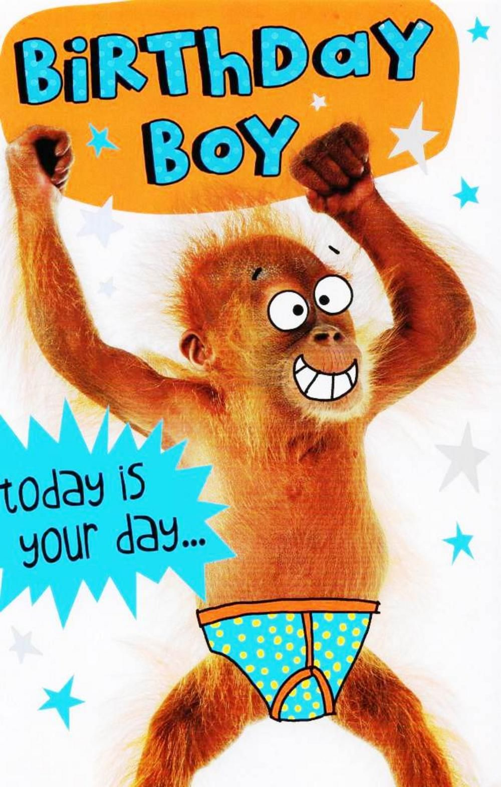 Funny birthday boy go bananas birthday card funny