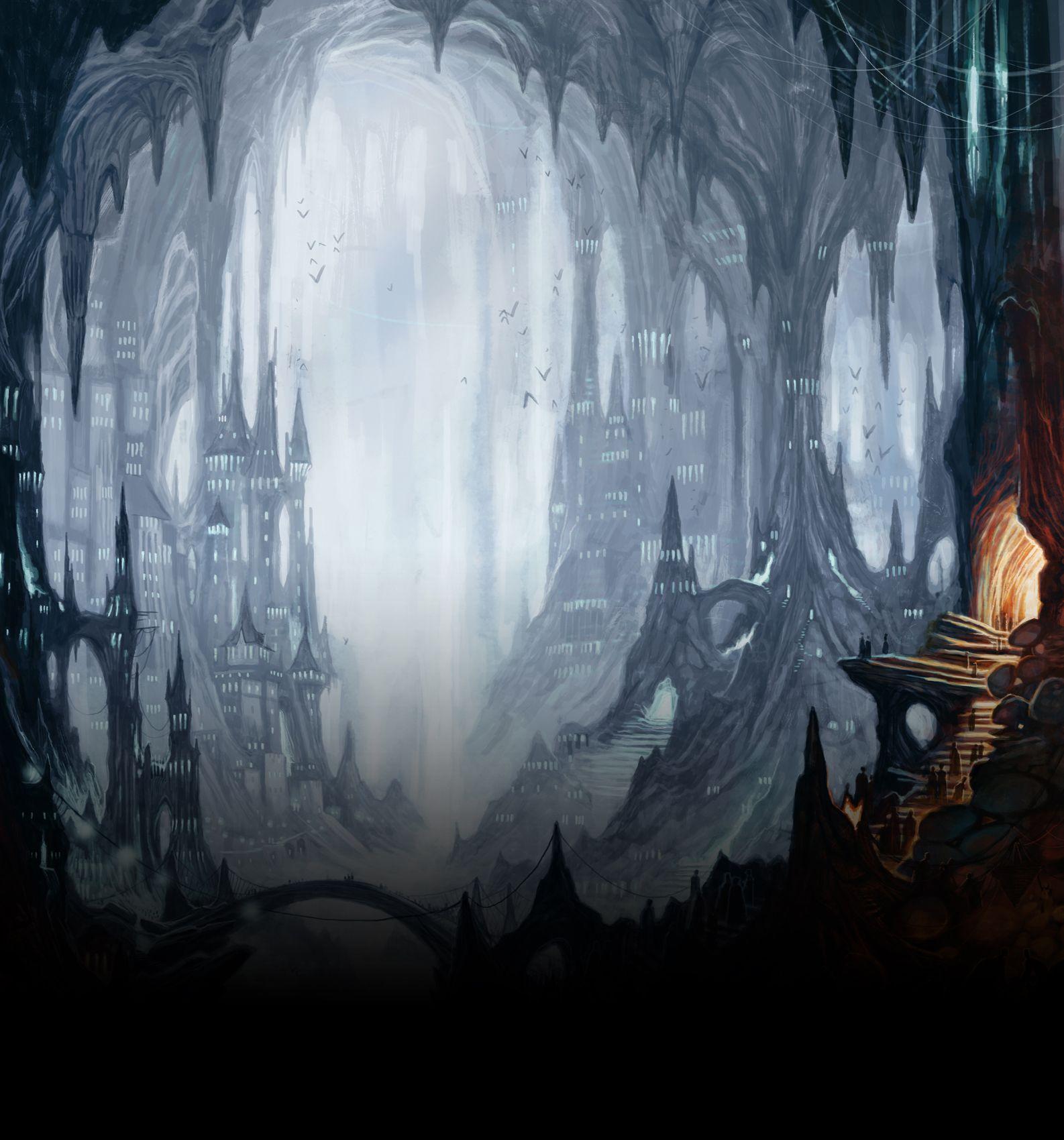 menzoberranzan city | OoA Underdark in 2019 | Fantasy