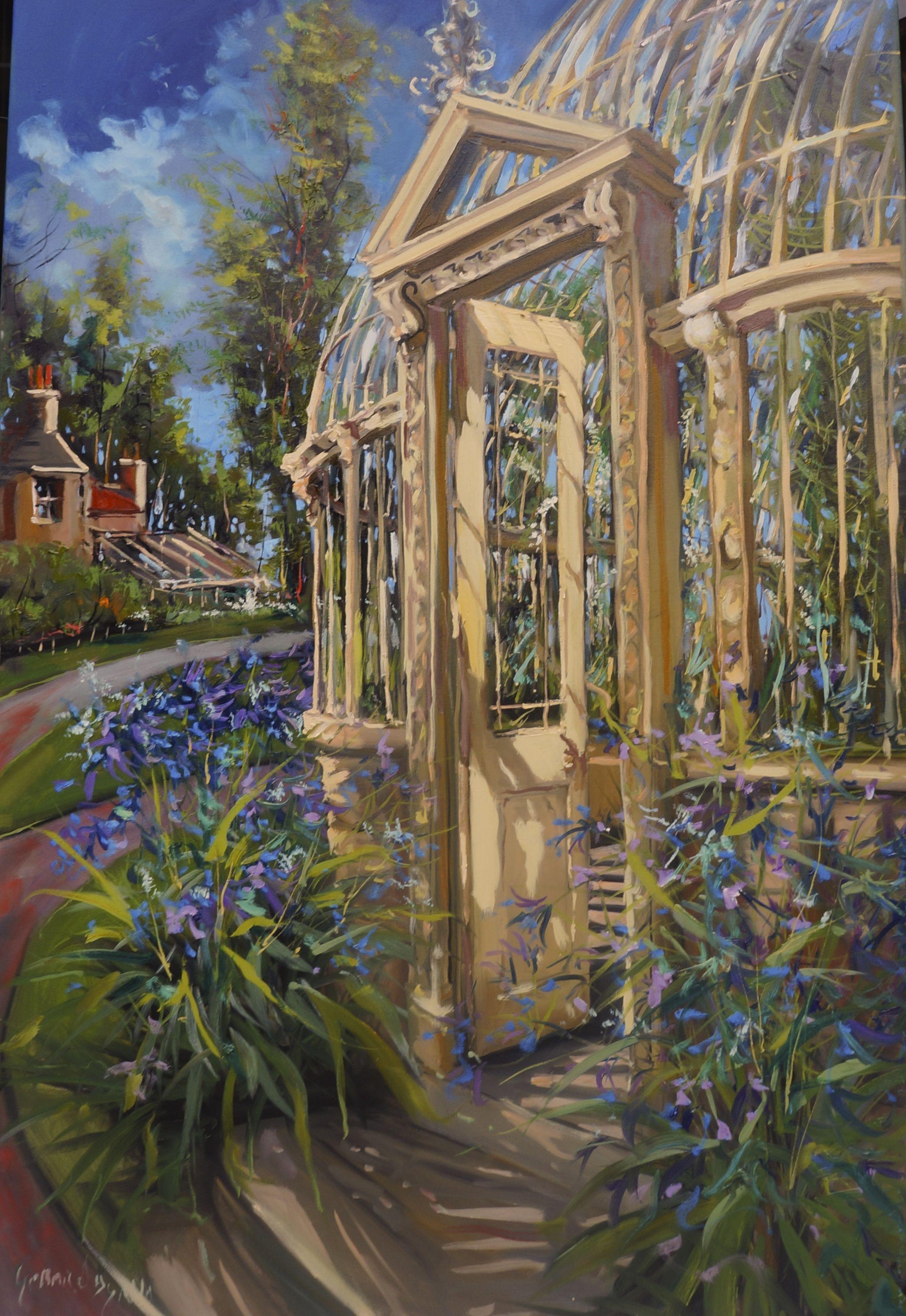 Glass House, Glasnevin Botanic Gardens, Dublin, Ireland, oil on ...