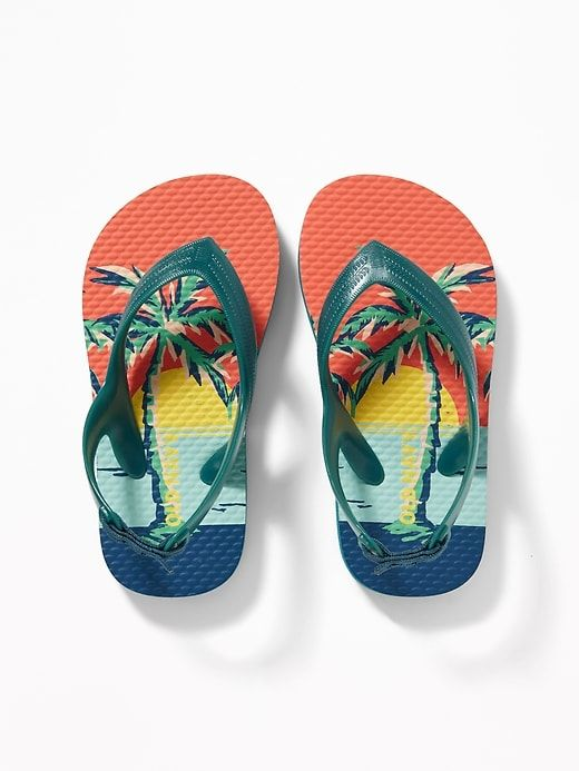 4268a06f476 Old Navy Toddler Boys  Printed Flip-Flops Beach Boys Regular Size 5 ...