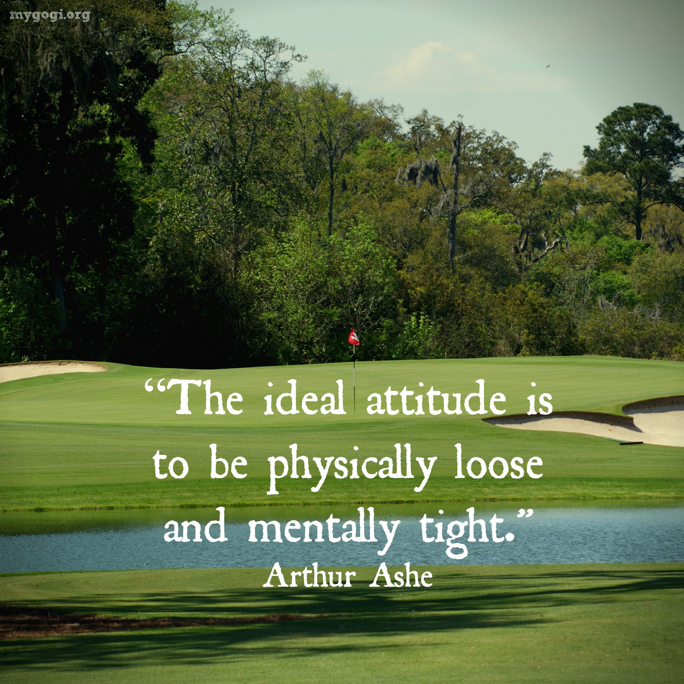 "Famous Golf Quotes Don't Be Afraid To Give Up The Good To Go For The Great."" John D"
