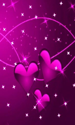 pink heart and stars | View bigger - Pink Hearts Glitter Stars ...