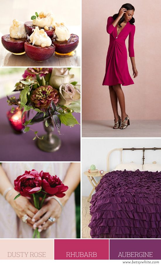818d36bb dusty rose, rhubarb, aubergine | Color Palettes by Betsy White ...