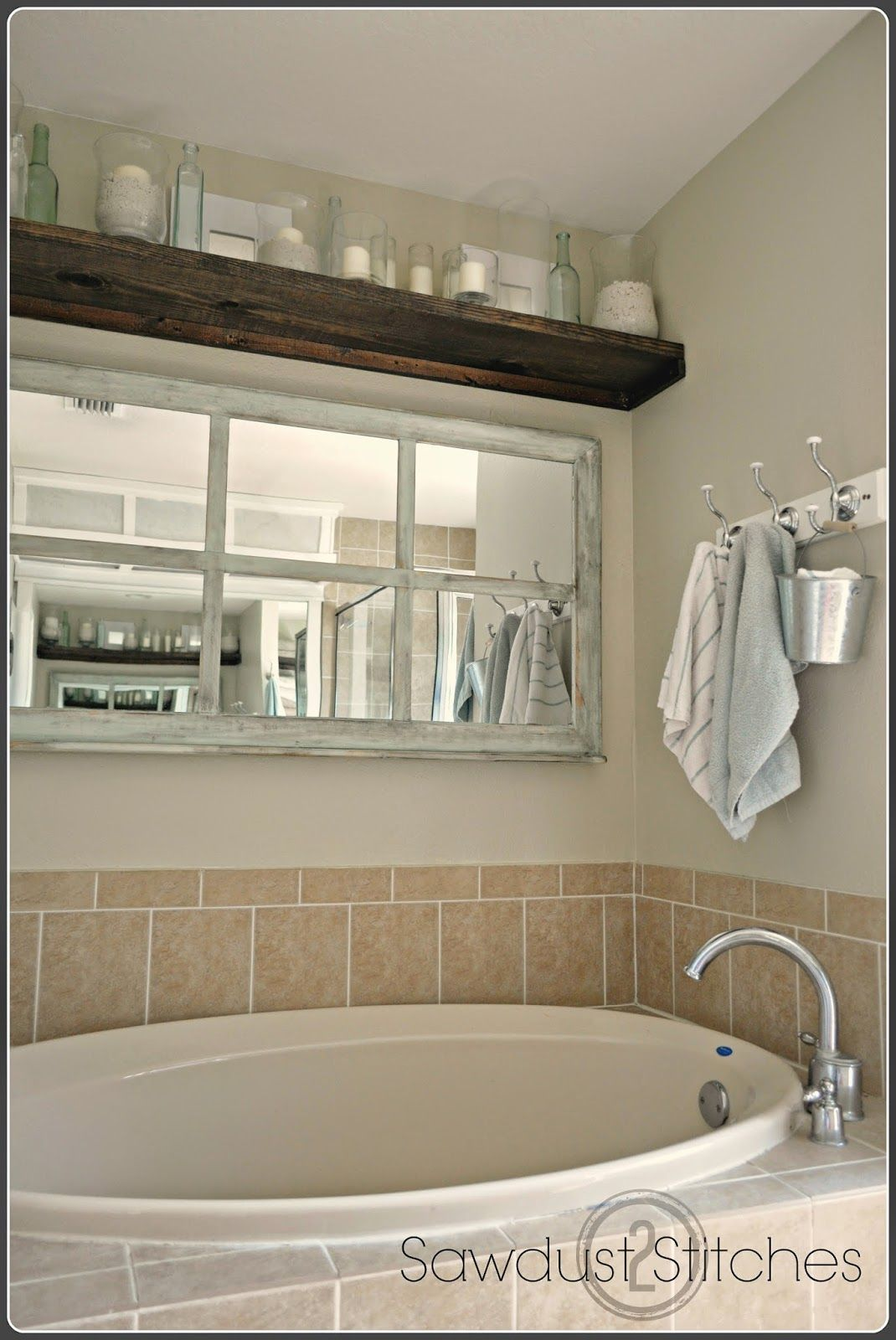 Window Framed Mirror | Bathtub decor, Amazing bathrooms ...