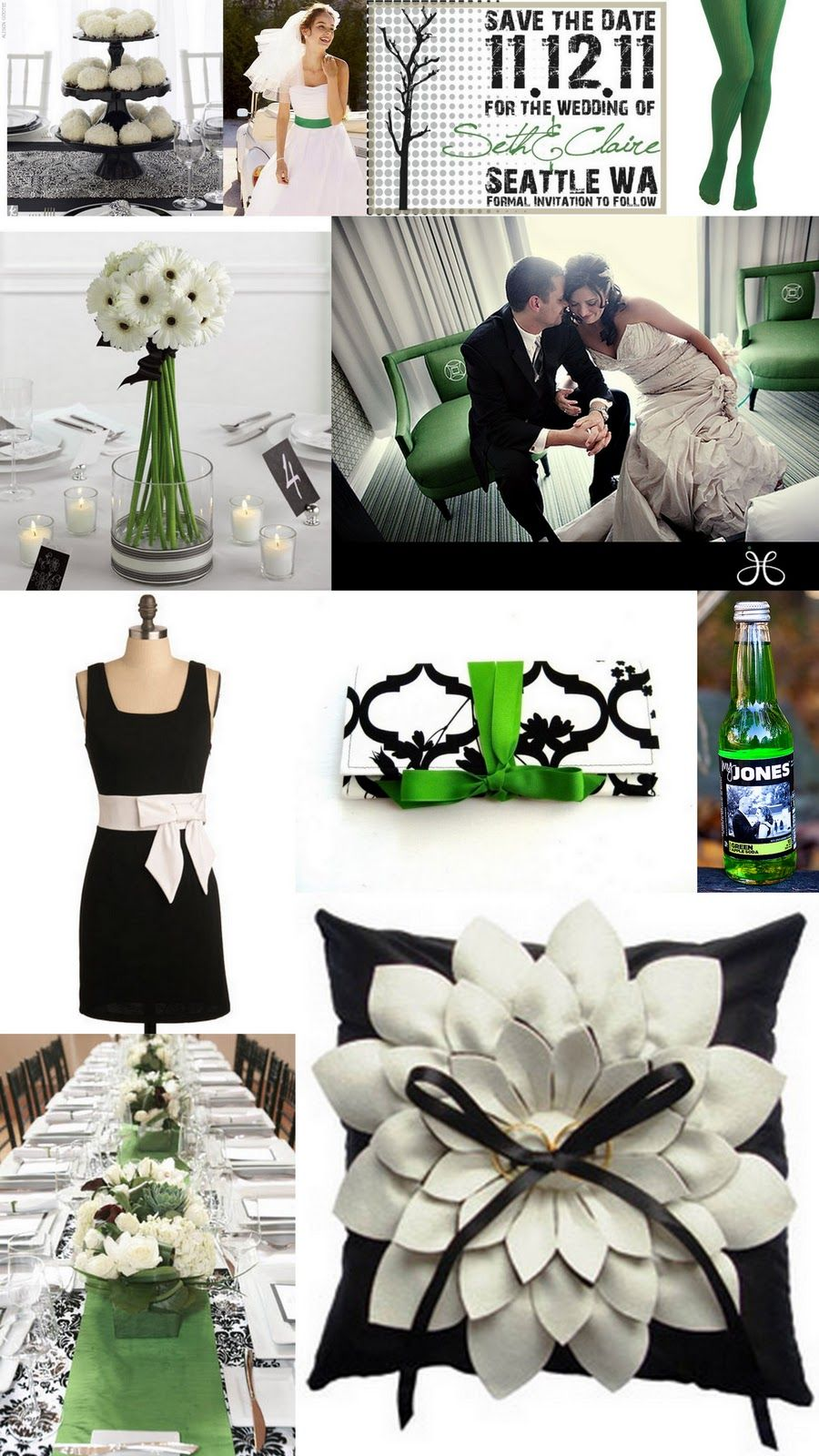 Green & Black Wedding Decorations | Looking for Green/Black wedding ...