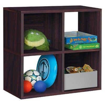 Under Desk Storage 4 Cubby Bookshelf Eco Friendly And Formaldehyde Free Espresso Lifetime Guarantee Under Desk Storage Desk Storage Cubbies