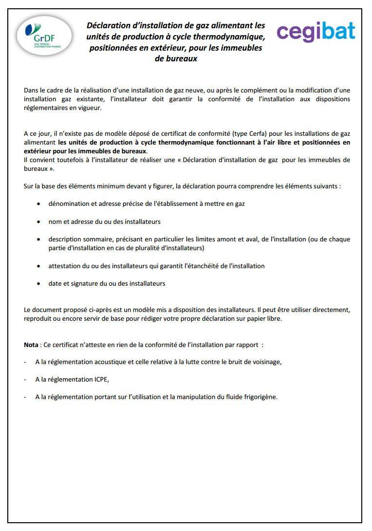 Certificat De Conformit Erp  Catgorie   Certificats De