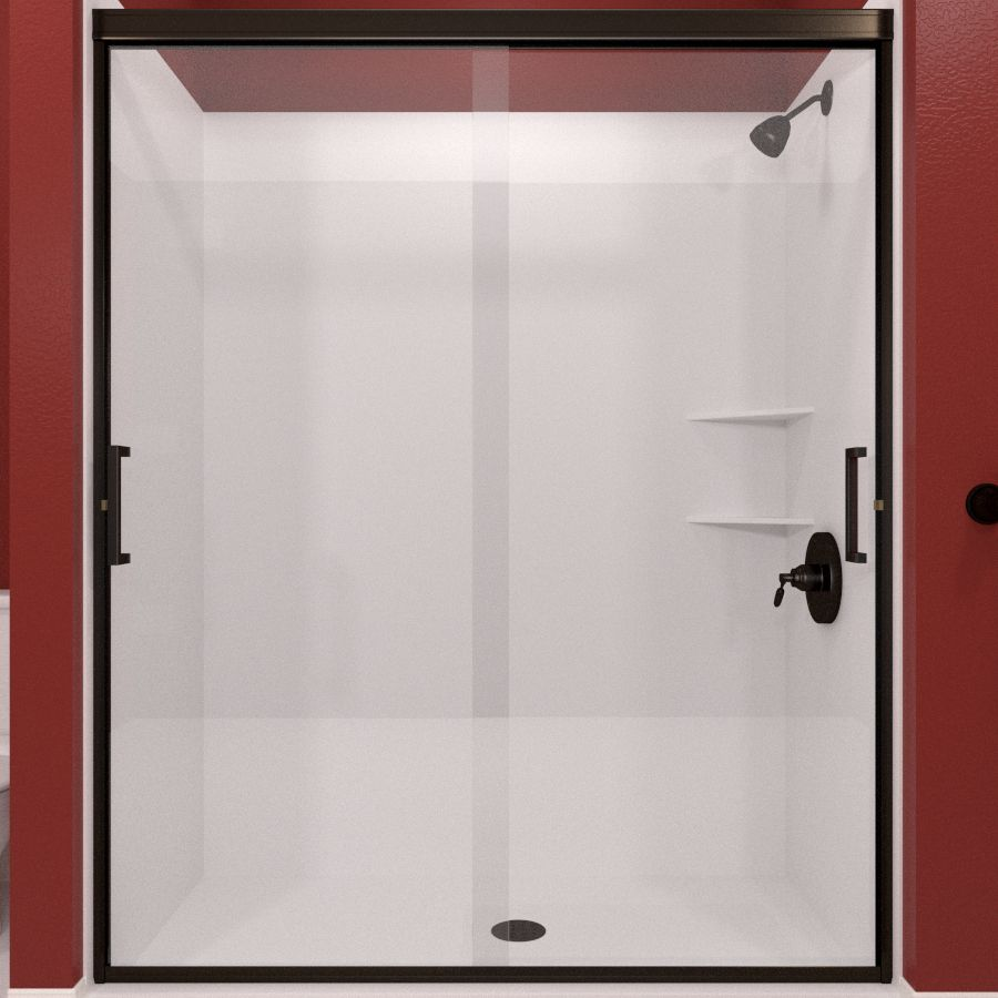 Arizona Shower Door Desert Tombstone To Frameless Anodized Oil Rubbed  Bronze Sliding Shower Door