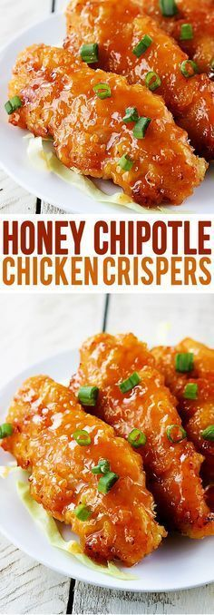 Honey Chipotle Chicken Crispers (baked not fried!) RAVE reviews on this recipe!! #chickenbreastrecipeseasy
