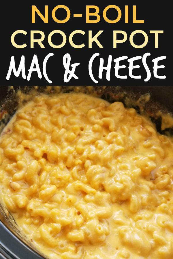 No-Boil Crock Pot Macaroni & Cheese