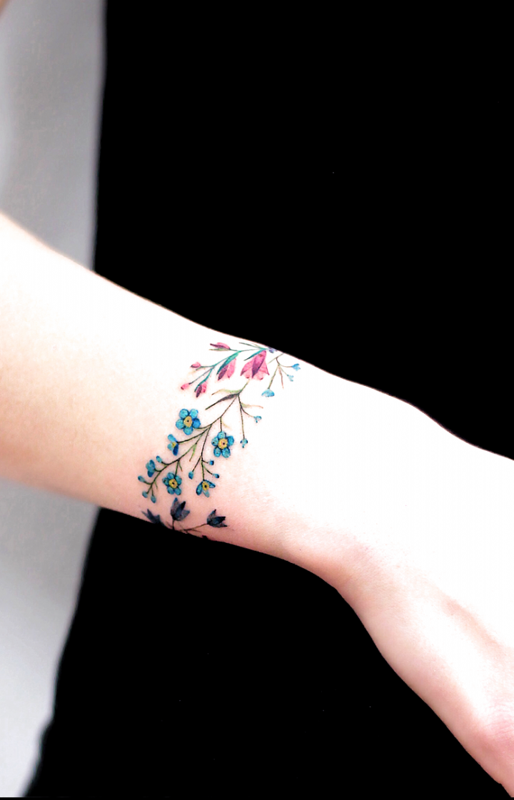 Discreet And Charming Wrist Tattoos Youll Want To Have. Classy, colorful and feminine wrist